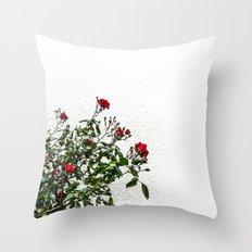 Rambling Roses Throw Pillow