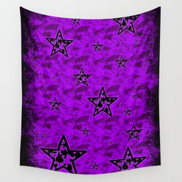 Violet Toxic Stars Wall Tapestry