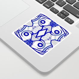 Blue morning - abstract decorative pattern Sticker
