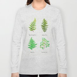 fern collection watercolor Long Sleeve T-shirt