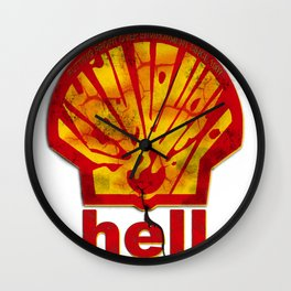 Hell Oil Wall Clock