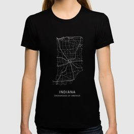 Indiana State Road Map T-shirt