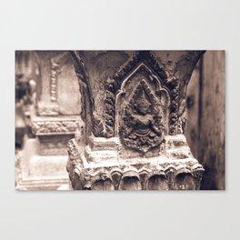 Stupas in Vientiane Canvas Print