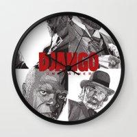django Wall Clocks featuring Django Unchained by Rik Reimert