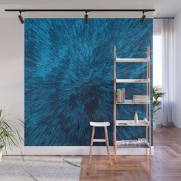 Bold Burst in Blue Wall Mural