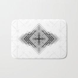 Monochromatic bold geometric shapes Bath Mat
