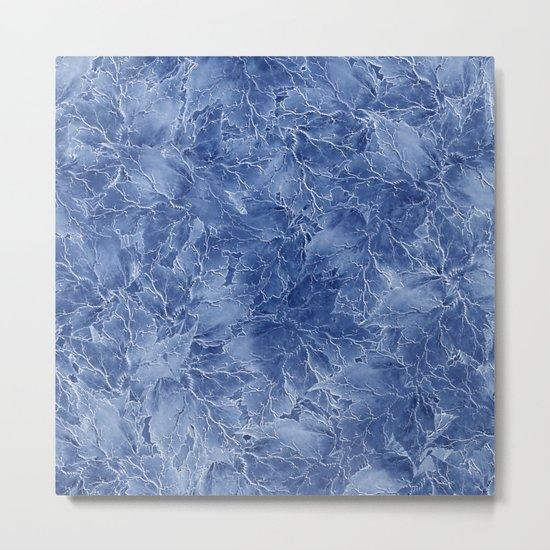 Frozen Leaves 14 Metal Print