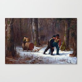 Eastman Johnson On Their Way to Camp Canvas Print