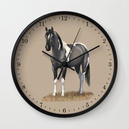 Grulla Paint Horse Wall Clock