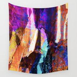 ABSTRACT NATURE // NEW ZEALAND // RAINBOW ROCKS Wall Tapestry