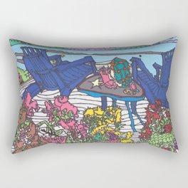 Beach Chairs Rectangular Pillow