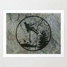 rockclimbing Art Print