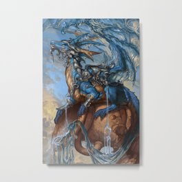 Zodiac Dragons Calendar Aquarius Metal Print