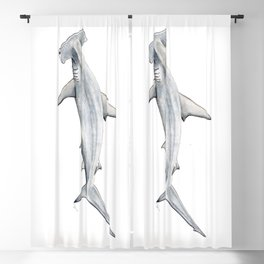 Hammerhead shark for shark lovers, divers and fishermen Blackout Curtain