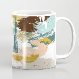Suspicious Actions, Abstract Landscape Art Coffee Mug