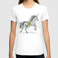 cherry T-shirts featuring Unicore II by Rachel Caldwell