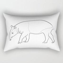 Tapir (white) Rectangular Pillow