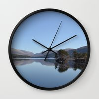 scotland Wall Clocks featuring Scotland Beauty by Eugene Lee