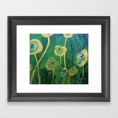 Lotus Blossoms in the Swamp Framed Art Print
