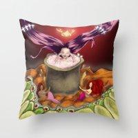 bath Throw Pillows featuring Bath by Devorah Greenberg