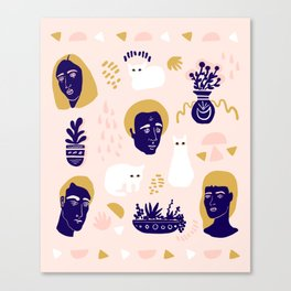 Living Things Print Canvas Print