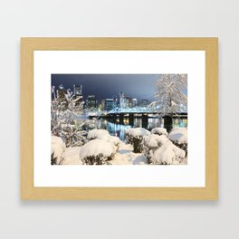 PDX Winter Framed Art Print