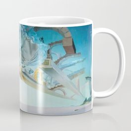 Salvador Dali - Trilogy of the Desert, Mirage surrealist female form painting Coffee Mug