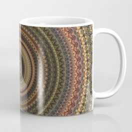 Vintage Bohemian Mandala Textured Design Coffee Mug