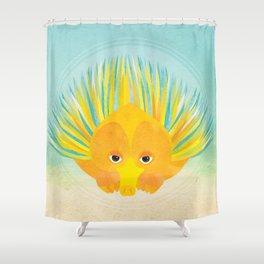 Shanti Sparrow: Eliza the Echidna Shower Curtain