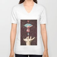 constellations V-neck T-shirts featuring Constellations  by Laura Carpenter