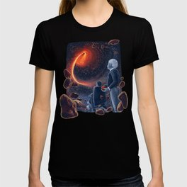 Ghosts in the Sky: Stephen Hawking and Albert Einstein T-shirt