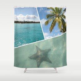 Caribbean Photo Collage - Isla Saona Shower Curtain