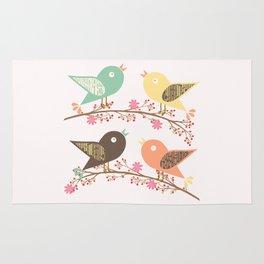 Four birds Rug