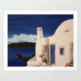Greece Getaway  Art Print