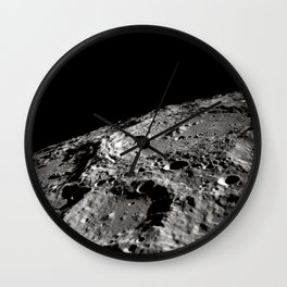 Terraced Wall Crater on the Lunar Limb Wall Clock
