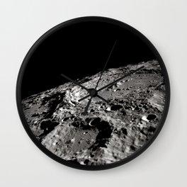Terraced Wall Crater on the Lunar Limb Wall Clock
