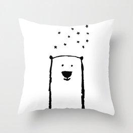 Bear Under the Stars Throw Pillow