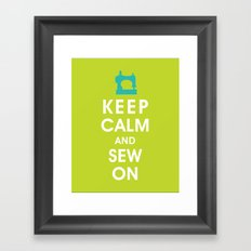 Keep Calm and Sew On (For the love of Sewing) Framed Art Print