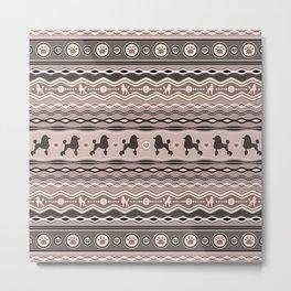 Poodle Love - Decorative Pattern in pastels Metal Print