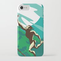 ape iPhone & iPod Cases featuring Ape Man by Tony Vazquez