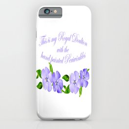 Royal Doulton with Hand Painted Periwinkles iPhone Case