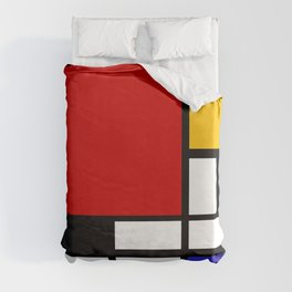 Piet Mondrian - Composition with Red, Yellow, and Blue 1942 Artwork Duvet Cover