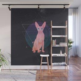 Galaxy Sphynx Cat Wall Mural