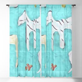 At the Watering Hole Sheer Curtain
