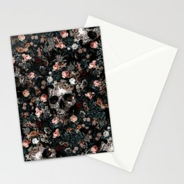 Skull and Floral pattern Stationery Cards