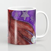 evangelion Mugs featuring Asuka from Evangelion by Jazmine Phillips
