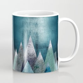 Mountains - grunge style Coffee Mug