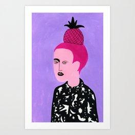 Pineapple hair Art Print
