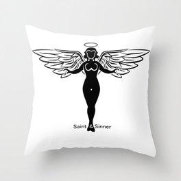 Saint & Sinner Throw Pillow