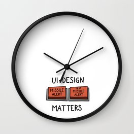 UI Design matters – Missile alert – Test Missile alert   [color] Wall Clock